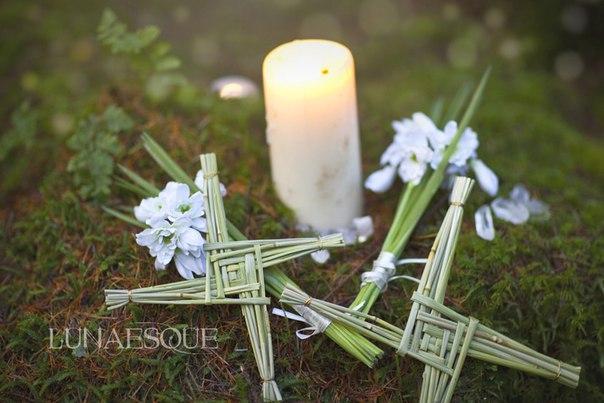 фото, крест Бригид, святая Бригитта, Имболк