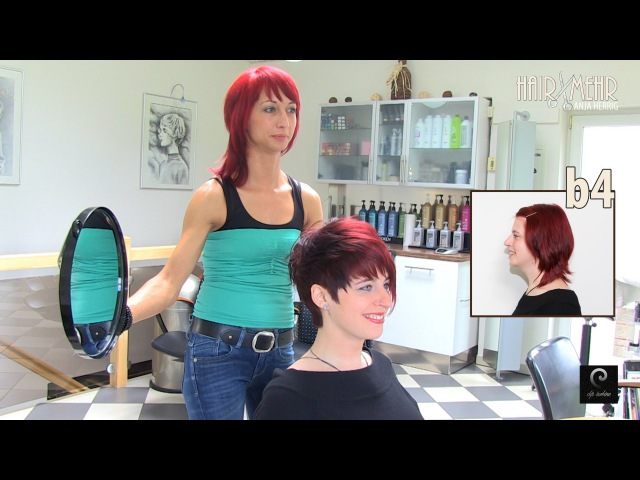 Extreme Pixie Short Haircut Makeover by Anja Herrig, hairundmehr.com red hair dye