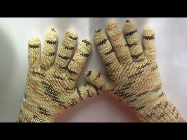 Перчатки Вязание на спицах How to Knit Gloves spokes
