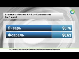 Мировые цены на нефть повлияли на стоимость бензина в Кыргызстане.