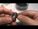 How to bead a bezel for a faceted stone that looks like a real gem setting.