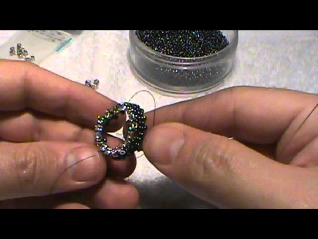 How to bead a bezel for a faceted stone that looks like a real gem setting