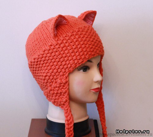 Детские вязанные шапки на девочку