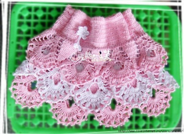 Кружевная юбочка на девочку (3 фото) - картинка