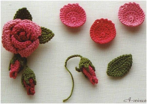 Цветы. Вяжем крючком. (8 фото) - картинка