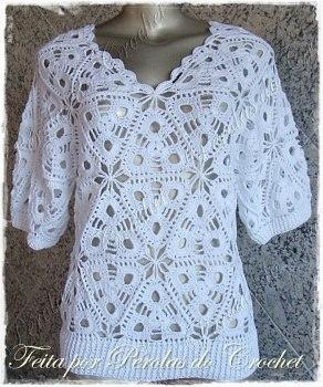 Вязаная блузка (6 фото) - картинка