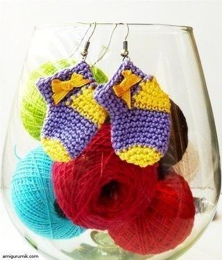Схема вязания мини-носочка крючком: (2 фото) - картинка