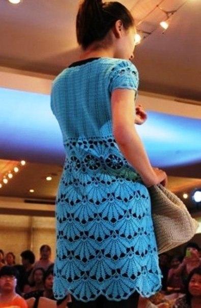 Платье с узором Веер (9 фото) - картинка