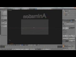 Размытая анимация движения текста в Blender
