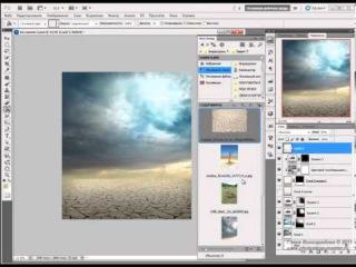 Урок Фотошоп Как нарисовать коллаж Запустение в Photoshop