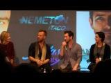 Jr Bourne, Ian Bohen drinking wine on stage @ NemetonItaCon 20/12/14