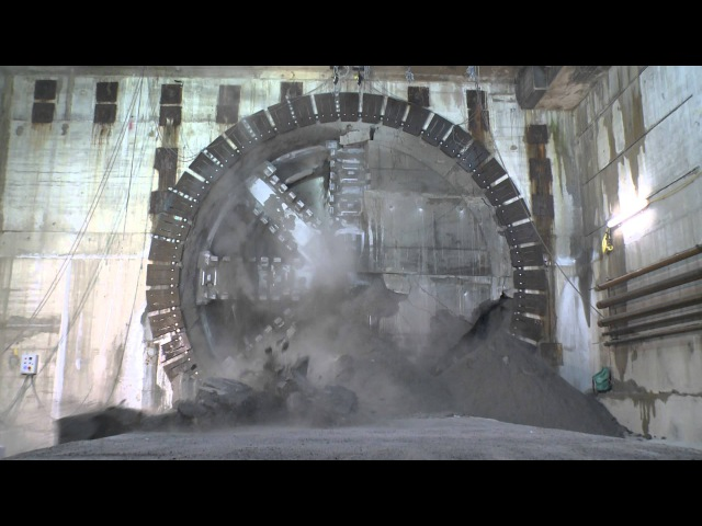 Crossrail tunnelling: Drone's eye view of Crossrail's completed rail tunnels