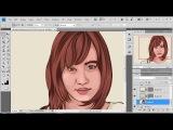 Real Speed 1 hour Vector - Vexel Tutorial (Atsuko Maeda)