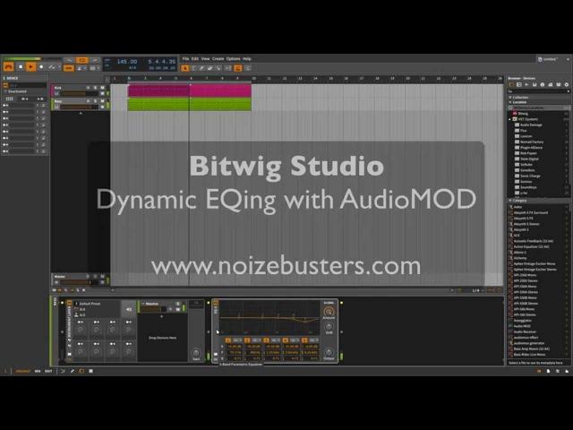 Bitwig Studio - Dynamic EQing with AudioMOD