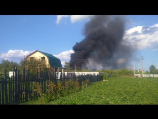 Пожар в д.Русиново