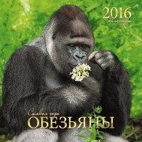 """Календарь на 2016 год """"символ года. обезьяны"""", настенный, Канц-Эксмо (Listoff, Unnika Land)"""