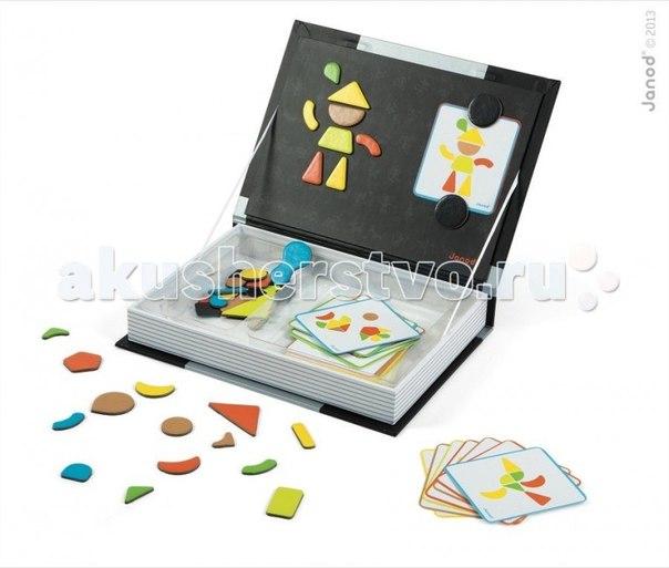 Магнитная книга мозаика в геометрии, Janod