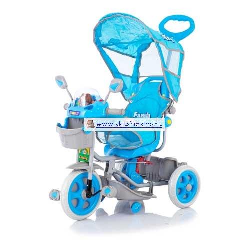 Велосипед трехколесный Family с зеркалом заднего вида, Baby Care