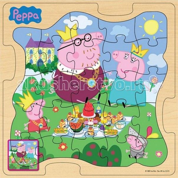 Пазл 30х30 королевская семья, Peppa Pig