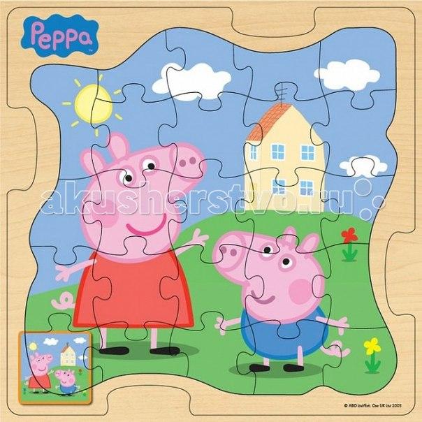 Пазл 30х30 у дома, Peppa Pig
