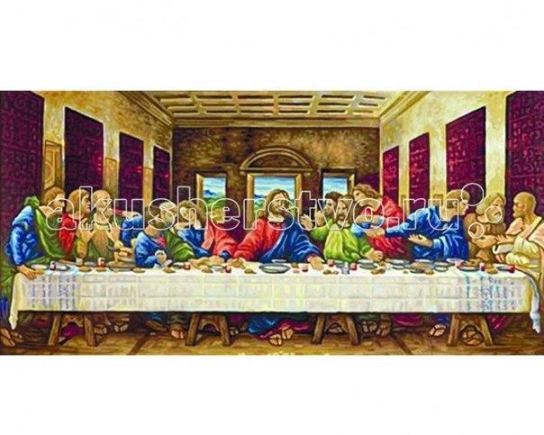 Картина по номерам тайная вечеря (леонардо да винчи) 80х40 см, Schipper