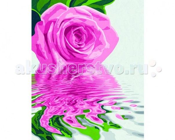 Картина по номерам розовая роза 40х50 см, Schipper