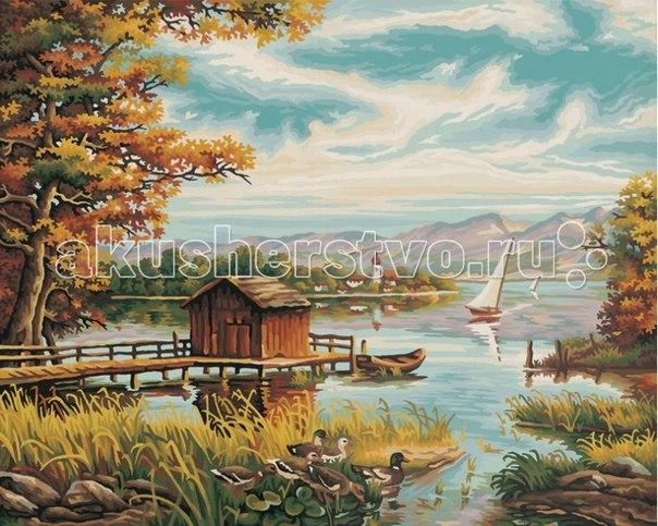 Картина по номерам на берегу озера 40х50 см, Schipper
