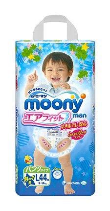 Подгузники-трусики для мальчиков l (9-14 кг) 44 шт., Moony