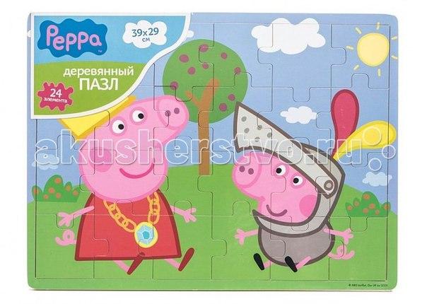 Пазл 39х29 пеппа и джордж, Peppa Pig