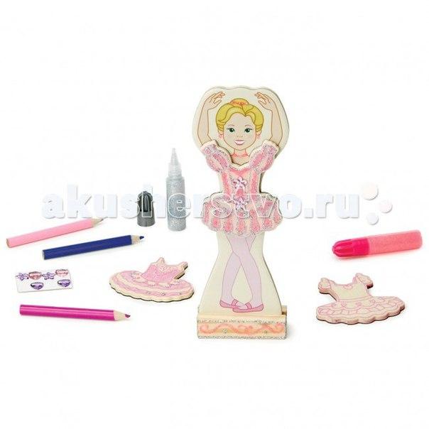 Деревянная игрушка Магнитные игры Балерина, Melissa & Doug