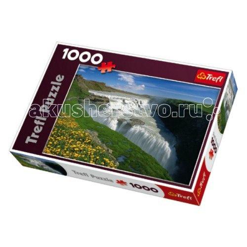 Пазл 1000 деталей - золотой водопад исландия, Trefl