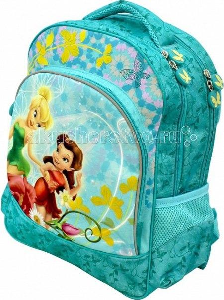 Рюкзак ортопедический мягкий феи бирюза 26115, Disney