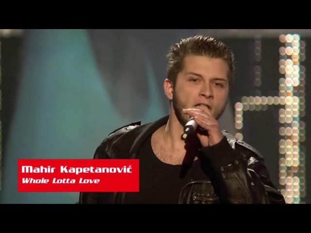 Mahir Kapetanović Whole Lotta Love The Voice of Croatia Season1 Blind Auditions5