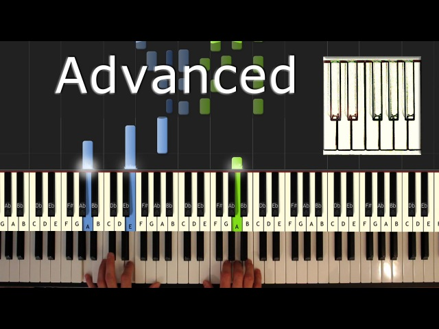 Ludovico Einaudi - Una Mattina - piano tutorial easy - Intouchables- synthesia