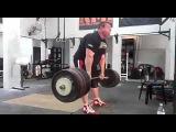 Влад Алхазов (Израиль), становая тяга без ремня - 370 кг на 4 раза !
