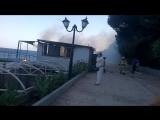 Гурзуф. Тушение пожара на Спутнике