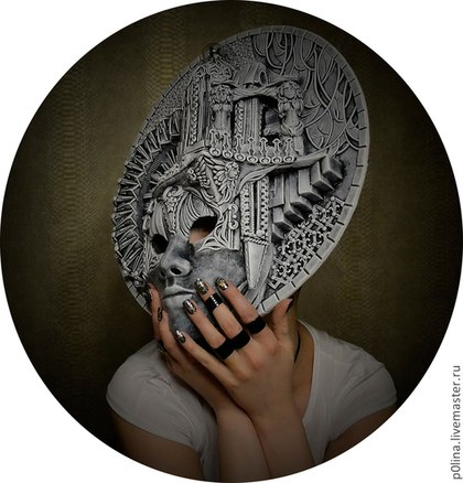 Интерьерная маска для декора стен