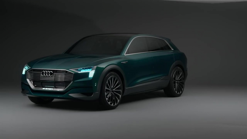 Audi Q6 e-tron quattro concept for IAA motor show technology exterior interior (vs Tesla Model X)