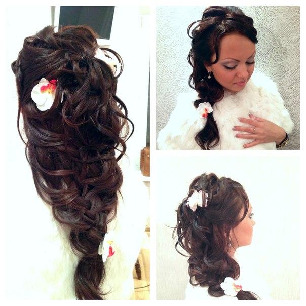 причёски свадебные на длинные