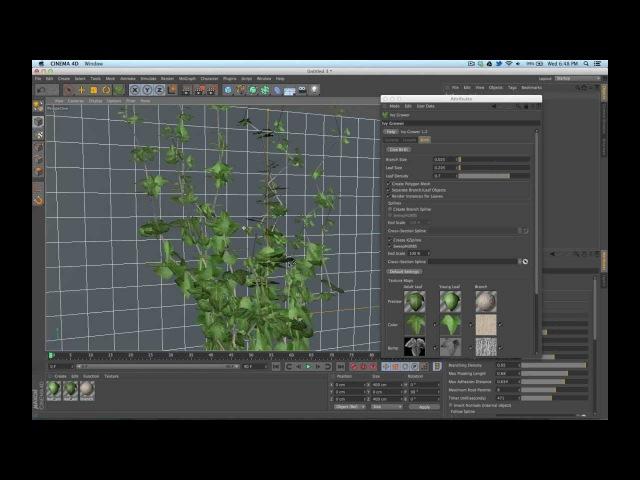Cinema 4D Tutorial: Animating Ivy in C4D | Part 2
