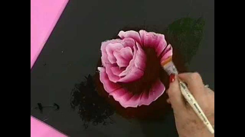 Como pintar una rosa al oleo - Pinceladas - Silvia Mongelos -