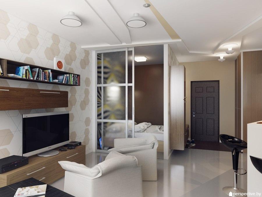 Концепт квартиры 43,8 м от дизайн-студии Perspective.