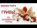 ГРИБЫ ◆ МИНИАТЮРА 11 ◆ Polymer clay Miniature Tutorial ◆ Анна Оськина
