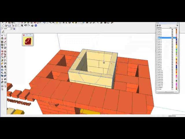 Процесс создания проекта отопительной печи 3х5