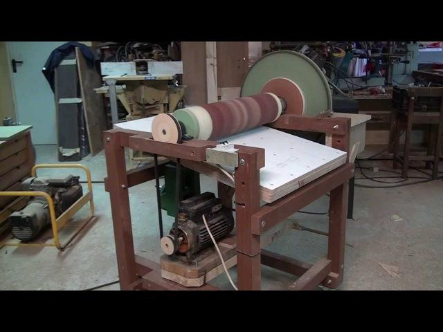 Drum and Disk Sander Homemade - wood machine - Thickness Sander