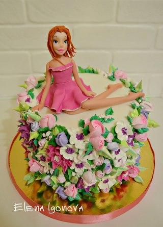 Фото кремового торта на свадьбу