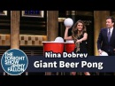 Giant Beer Pong with Nina Dobrev
