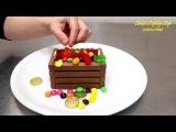 Идеи для декорирования тортов: шоколадный сундук
