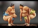 Неравный бой сумо: худой против толстого ythfdysq ,jq cevj: [eljq ghjnbd njkcnjuj