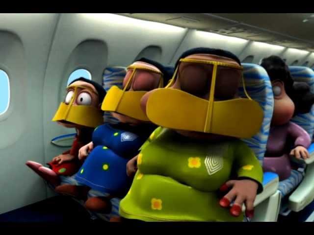 Flydubai's safety video produced by FREEJ (English)